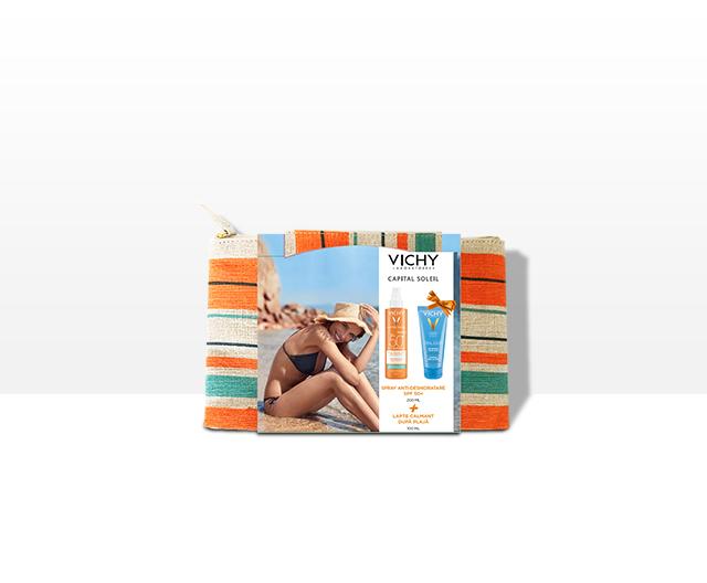 Trusă Capital Soleil: Spray hidratant SPF50+ + Lapte dupa plaja 100ml