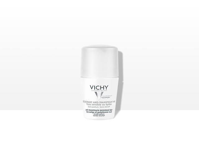 Deodorant roll-on antiperspirant pentru piele sensibilă, eficacitate 48h