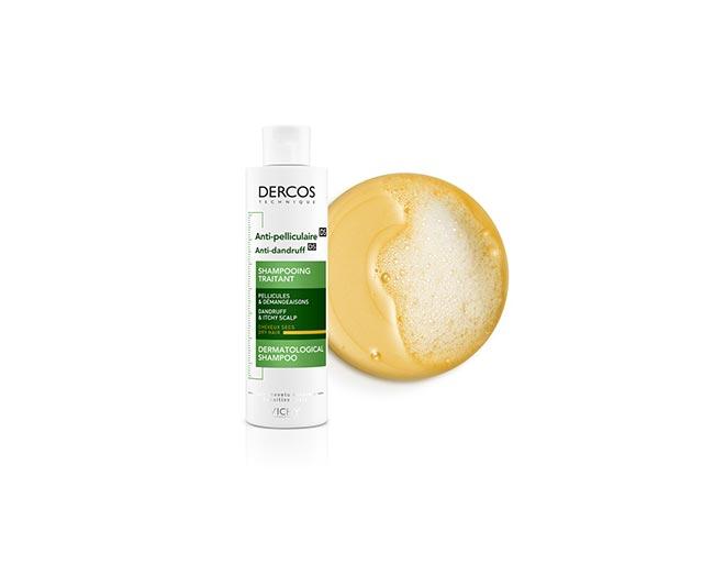 Șampon tratament împotriva mătreţii pentru părul uscat