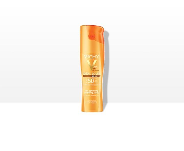 Spray hidratant intensificator al bronzului SPF 50+
